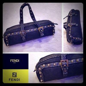 FENDI Selleria studded east west bag